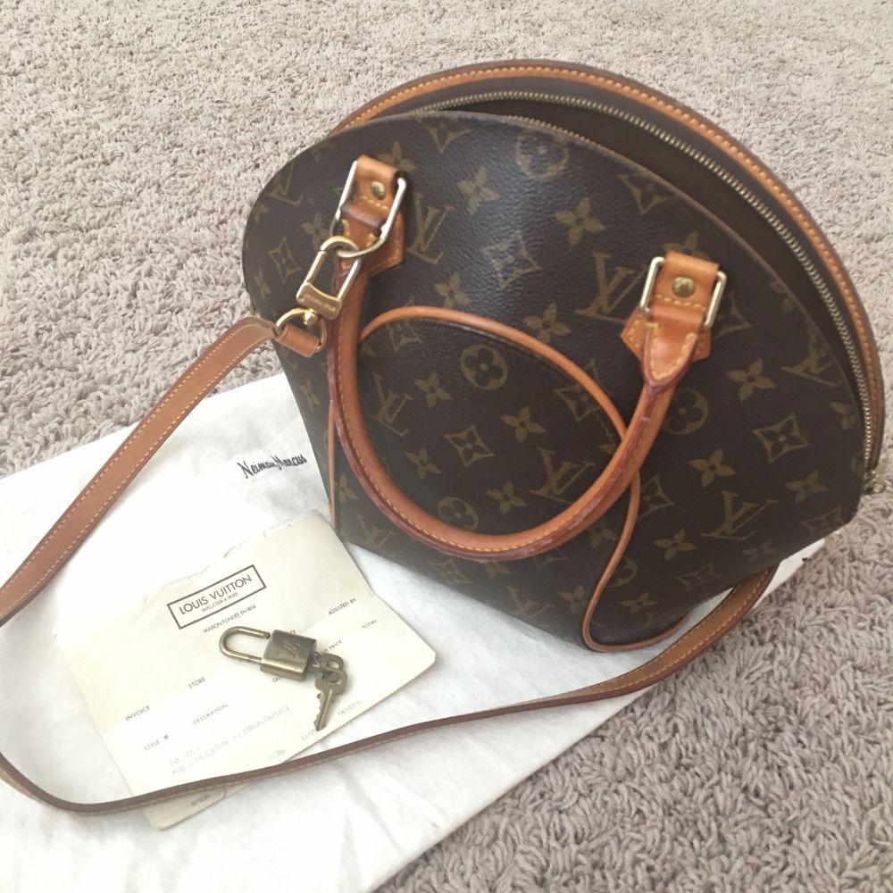 6a5bc56b660 Authentic Louis Vuitton Monogram Canvas Ellipse PM Hand Bag Vintage M51127   fashion  clothing  shoes  accessories  womensbagshandbags (ebay link)