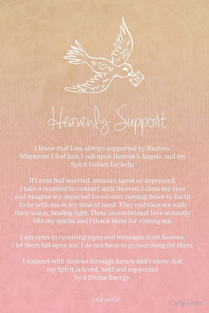 Affirmation heavenly support by carlymarie quotessayingslyrics affirmation heavenly support by carlymarie stopboris Images
