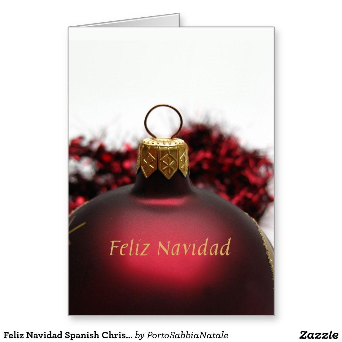Feliz navidad spanish christmas card all things zazzle feliz navidad spanish christmas card kristyandbryce Images