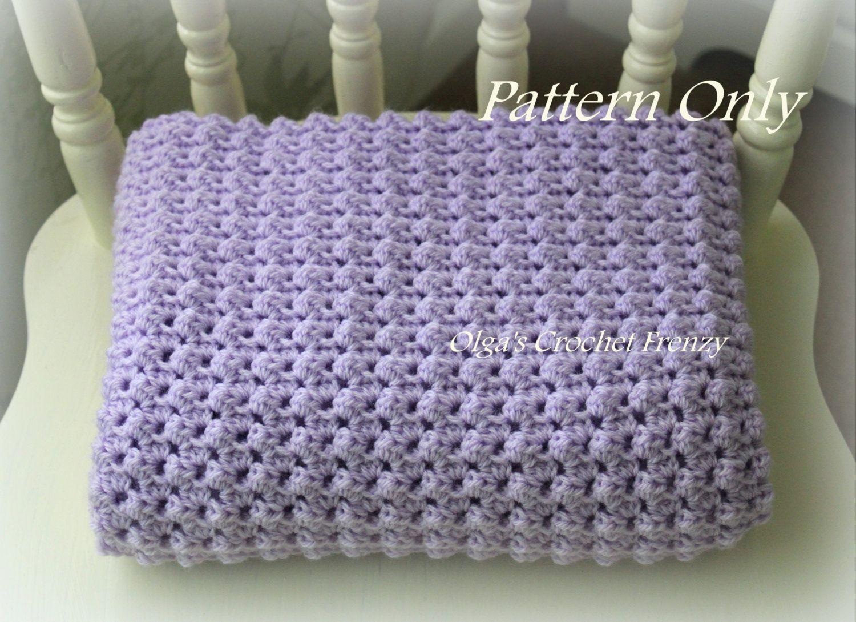Encantador Patrón De Crochet Sencillo Manta Motivo - Manta de Tejer ...