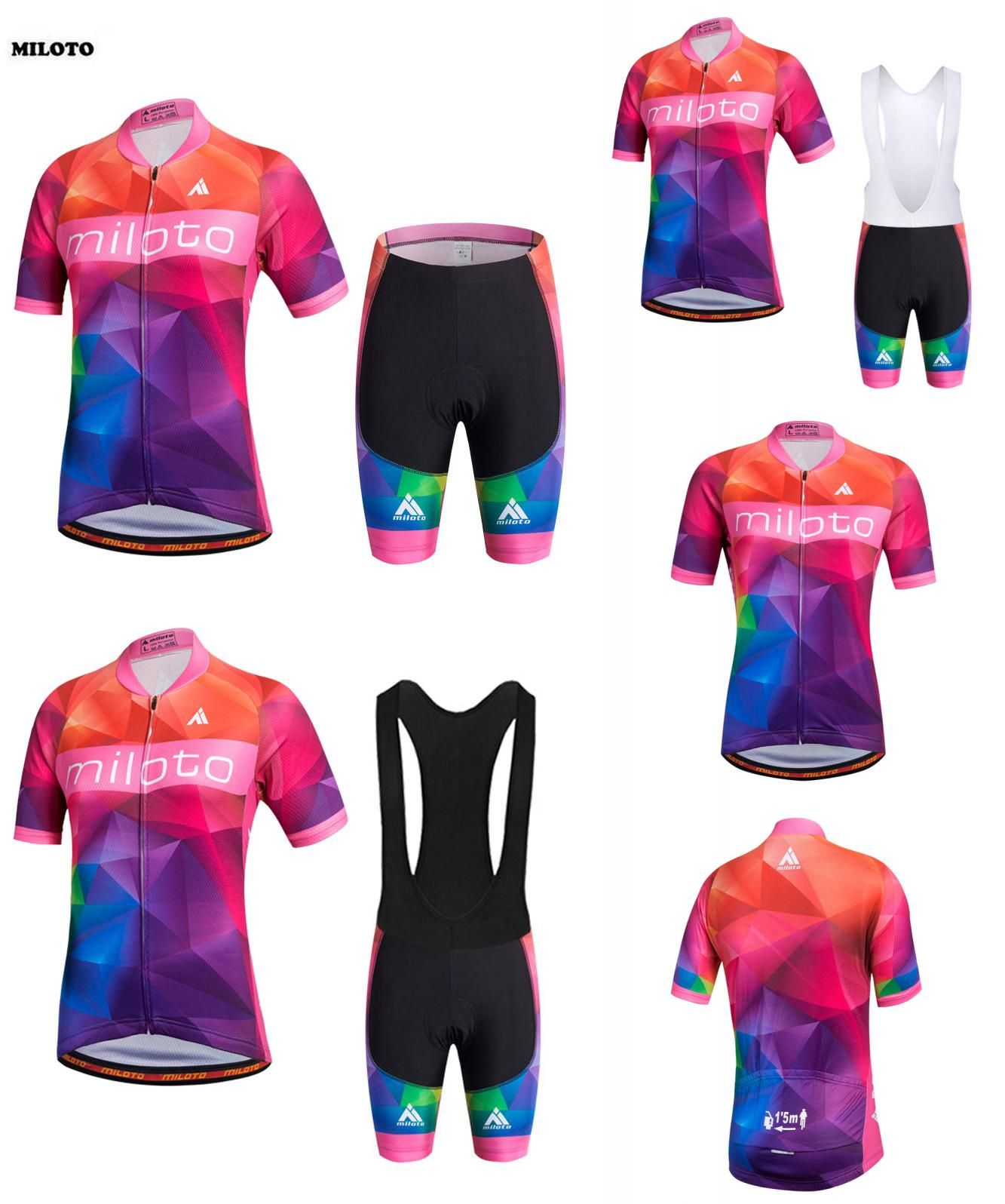 64f98a6d6  Visit to Buy  2017 MILOTO Cycling Jerseys Bike Ropa Ciclismo Short Sleeve  Clothing Set