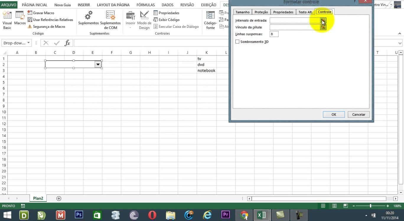 Como utilizar a caixa de combinação do Excel