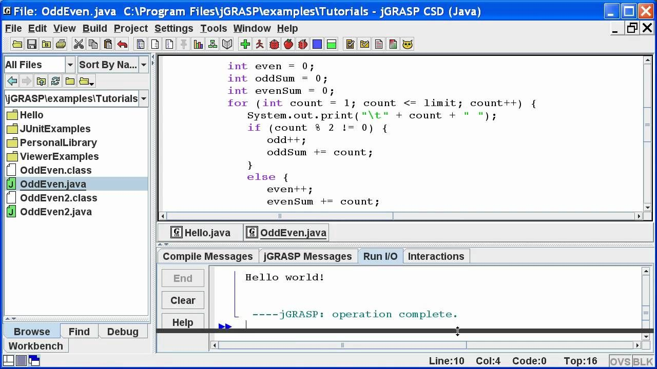 Jgrasp Getting Started Get Started Lesson Tutorial - File Server Java Program