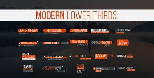 Download VideoHive Lower Thirds 20130067 Project For After Effects Free