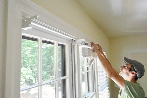 Installing White Faux Wood Window Blinds White Wood
