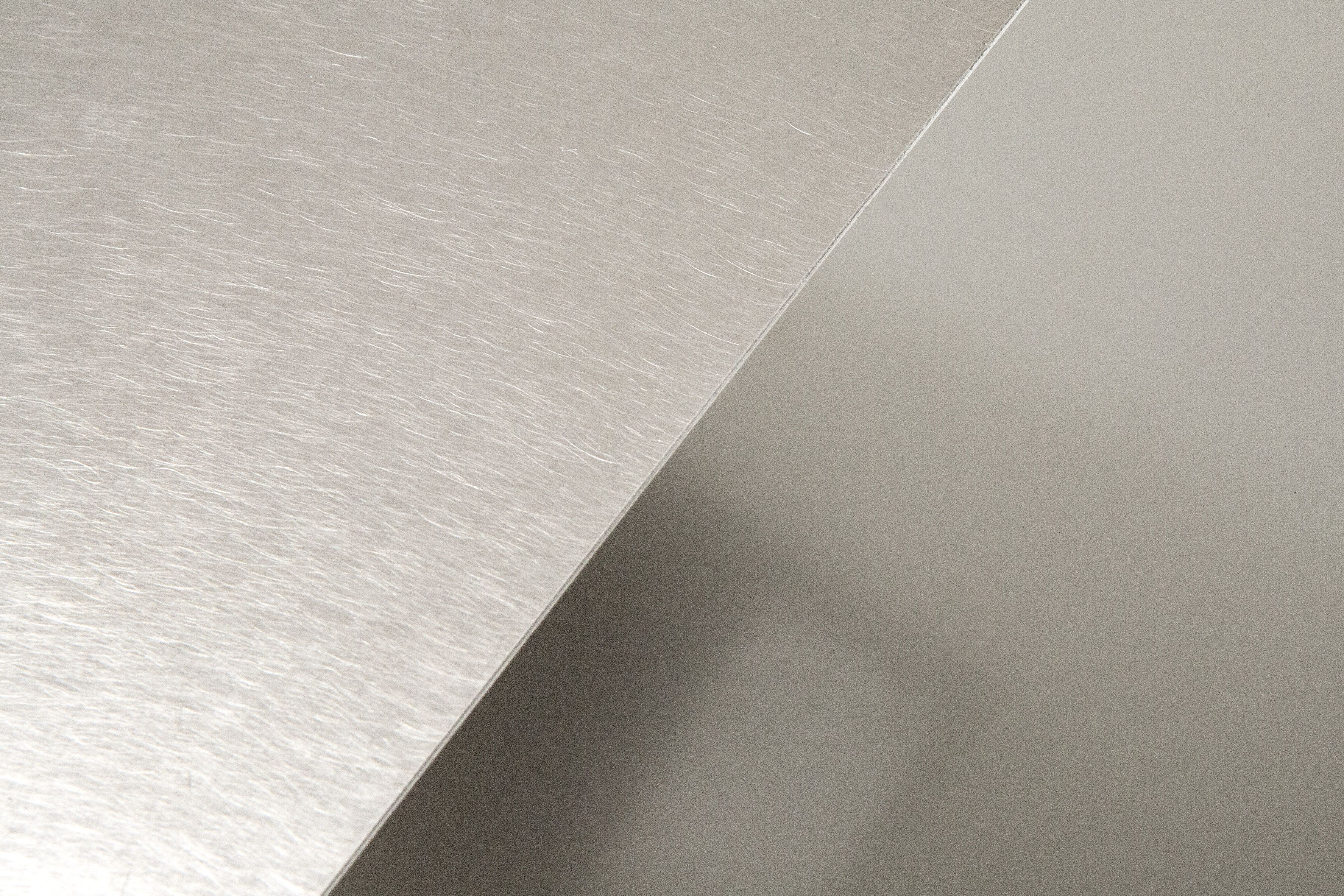 Polished And Bead Blasted Finishes Materialdistrict Stainless Steel Sheet It Is Finished Steel Sheet