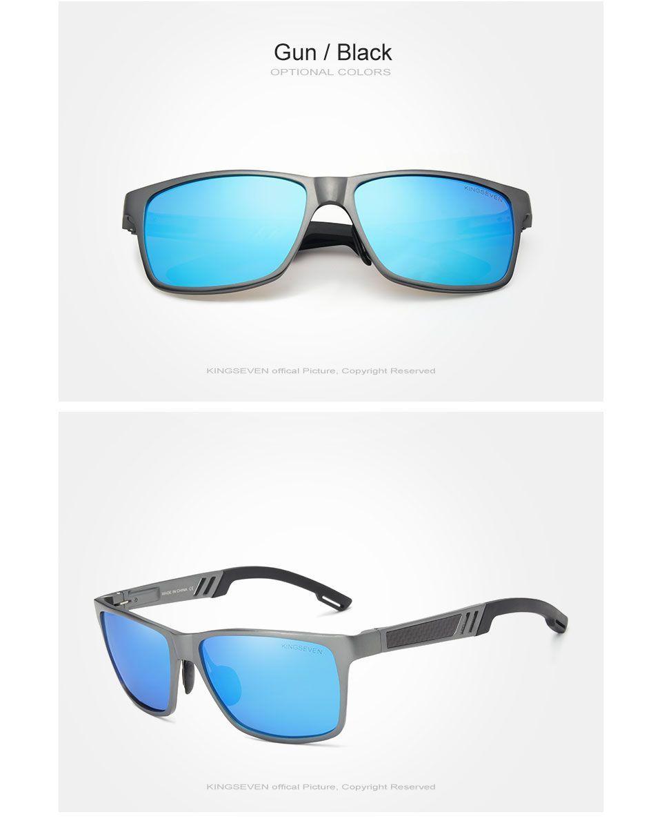 KINGSEVEN Men Polarized Sunglasses Aluminum Magnesium Sun Glasses Driving  Glasses Rectangle Shades For Men Oculos masculino 4bf88291f8