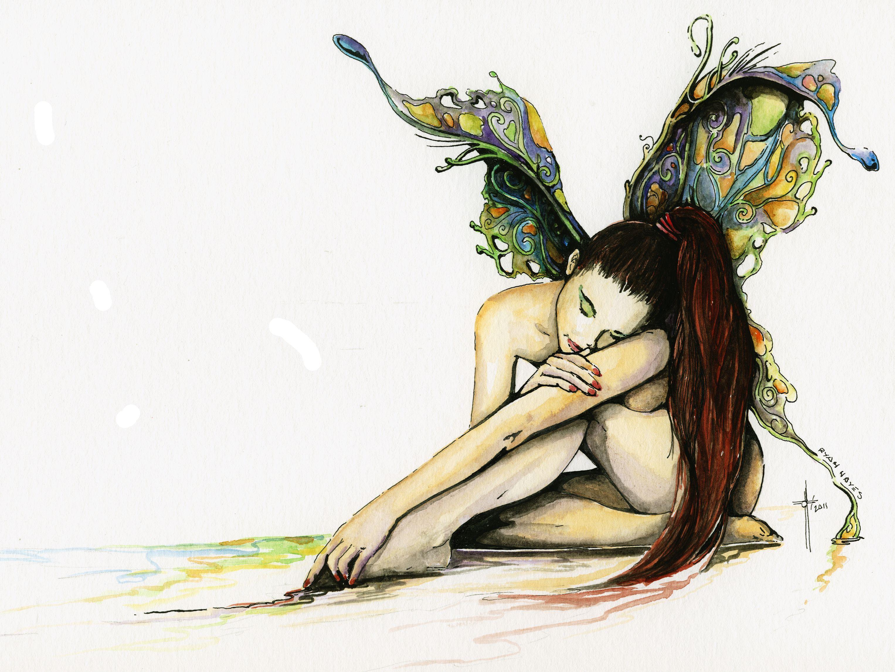 Butterfly Fairy – watercolor