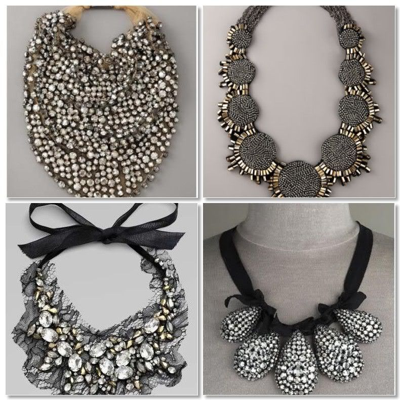 Statement necklaces bridal wedding accessories in silver Style