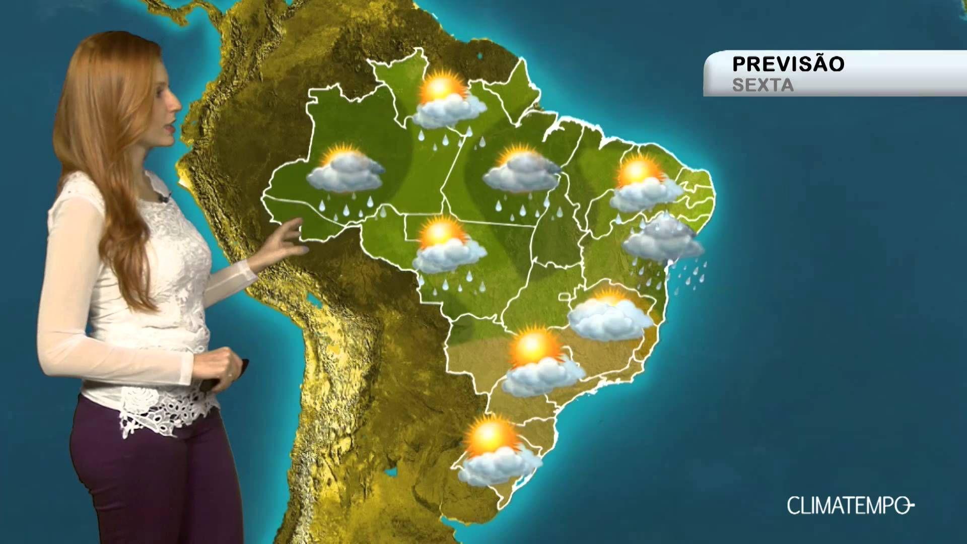 Previsão Brasil - Muita chuva na Região Nordeste