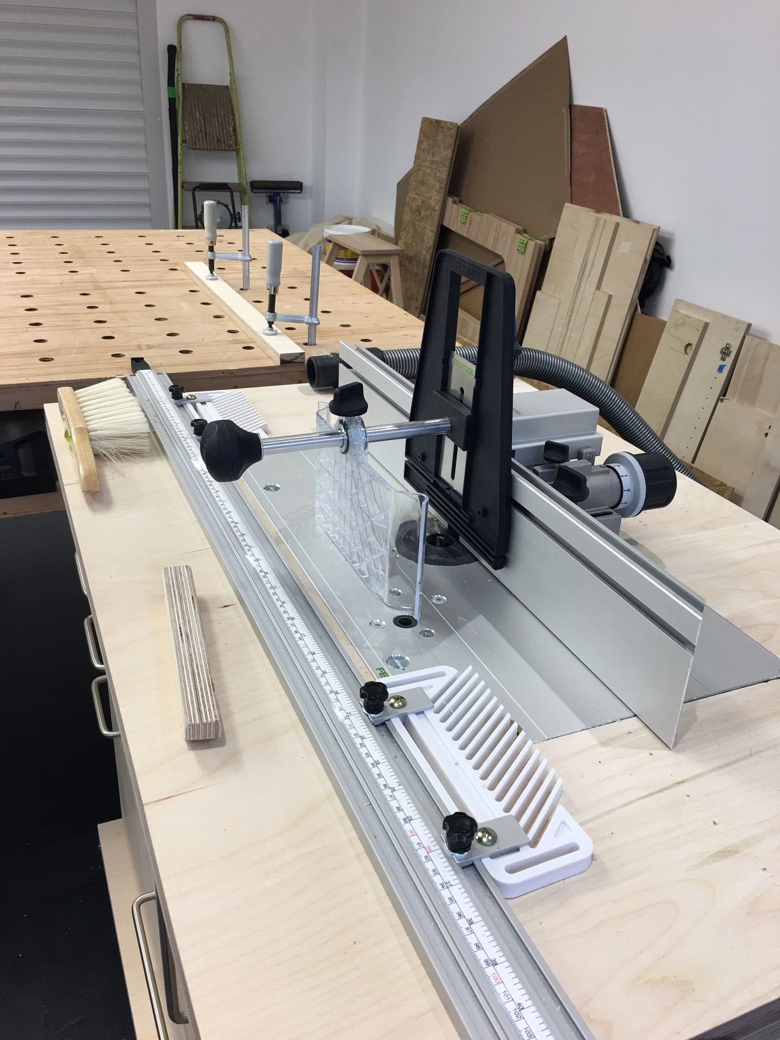 Homemade router table top  Festool new Router Table setup for some long narrow components