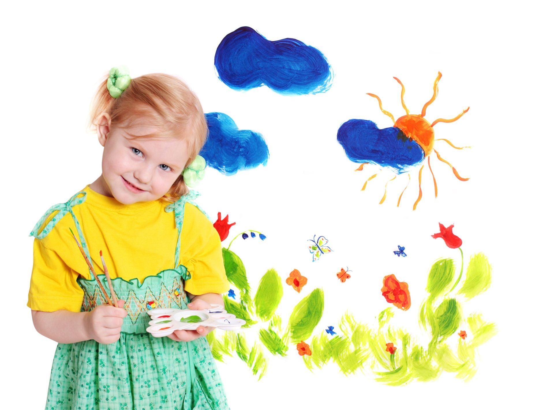 #menina, #flores, #pintura, #sol, #nuvens, #criança, #cor, #belo, #desenho, #cores, #crianças, #felicidade, #bonitinho, #alegria, #feliz, #infância, #adorável, #uma menina, #olhos azuis, #bastante, #desenhar, #artista