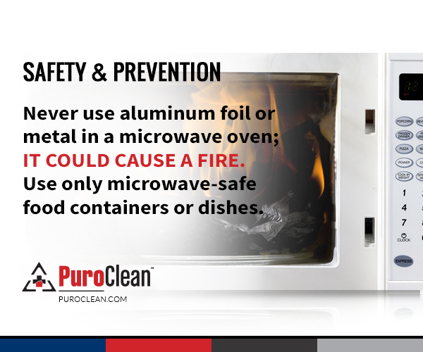 Safety Prevention Never Use Aluminum Foil Or Metal In A Microwave Oven It