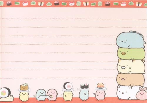 cute memo pad with bear, cat, penguin, cutlet, seaweed etc. by San-X