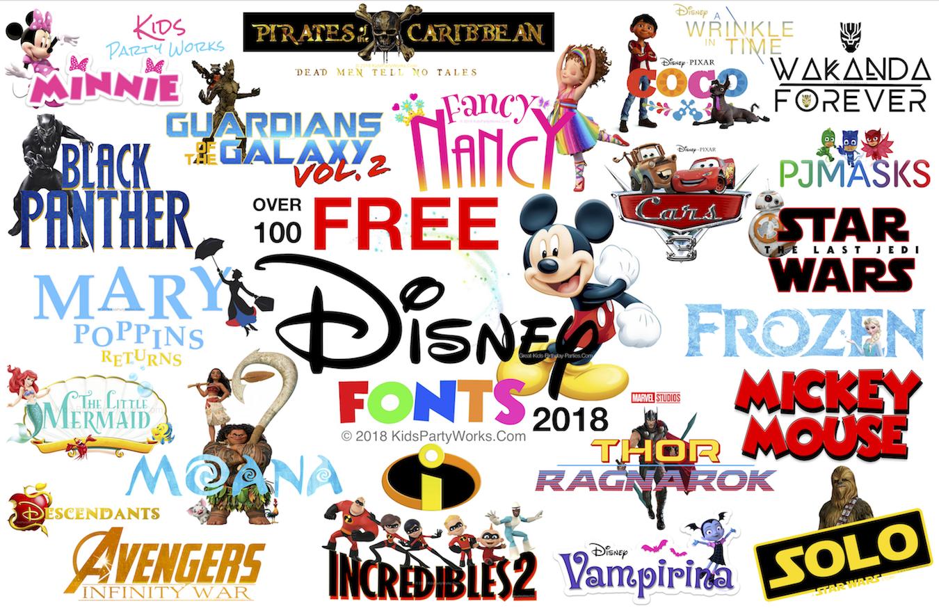 free disney fonts top 100 disney fonts including fancy nancy font black panther font moana font disney princess mickey minnie frozen font  [ 1350 x 874 Pixel ]