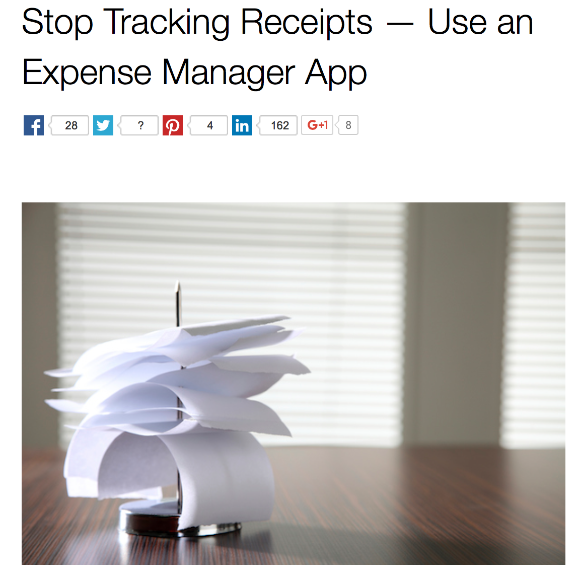 Stop Tracking Receipts — Use An Expense Manager App