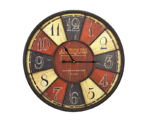 Large Antiques Wall Clock 23 1 2 In Things2die4 Http Www Amazon Com Dp B00bsxkhe2 Ref Cm Sw R Pi Dp W7rzub1 Antique Wall Clock Best Wall Clocks Wall Clock