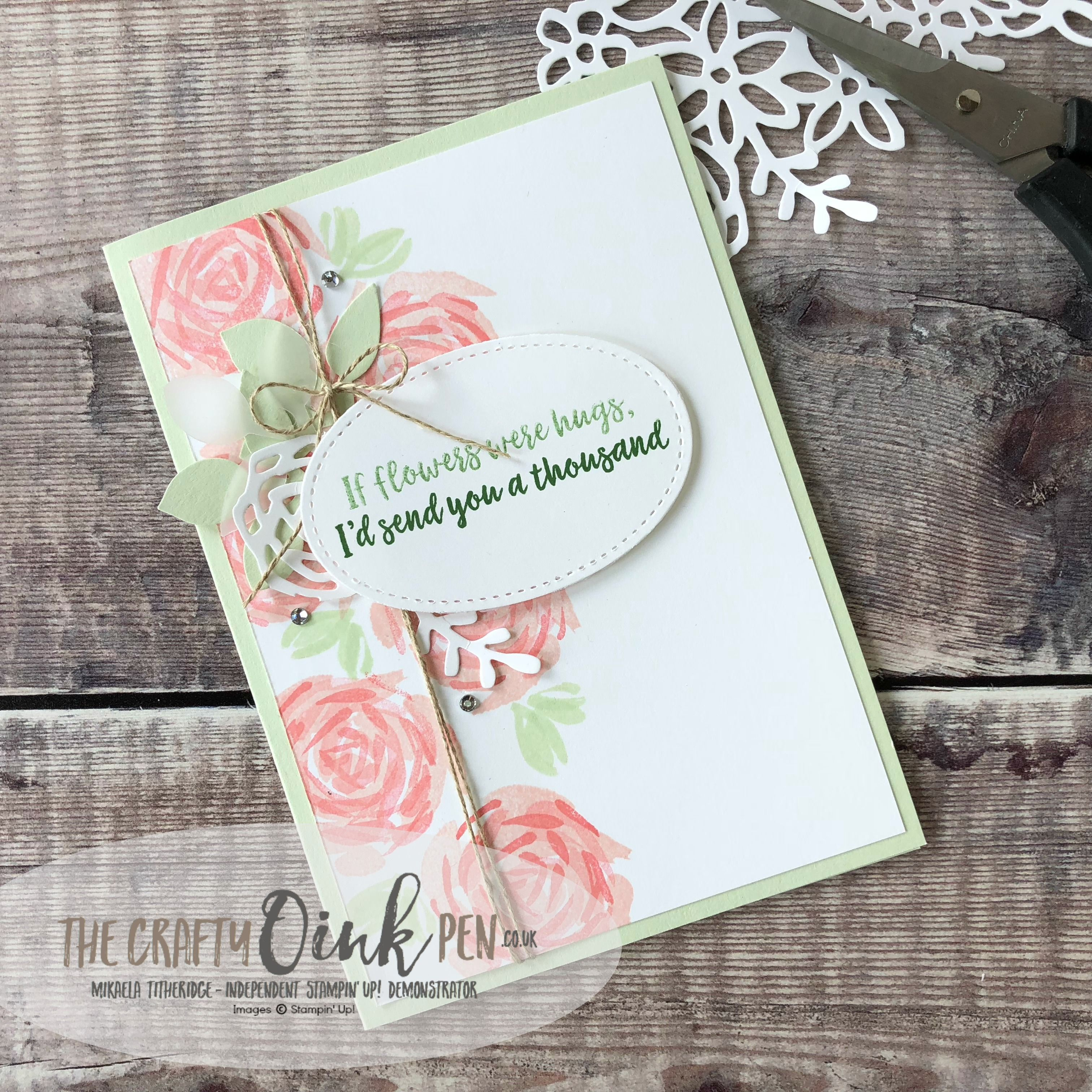 Abstract Impressions Card By Mikaela Titheridge, #6Uk Independent Stampin Up