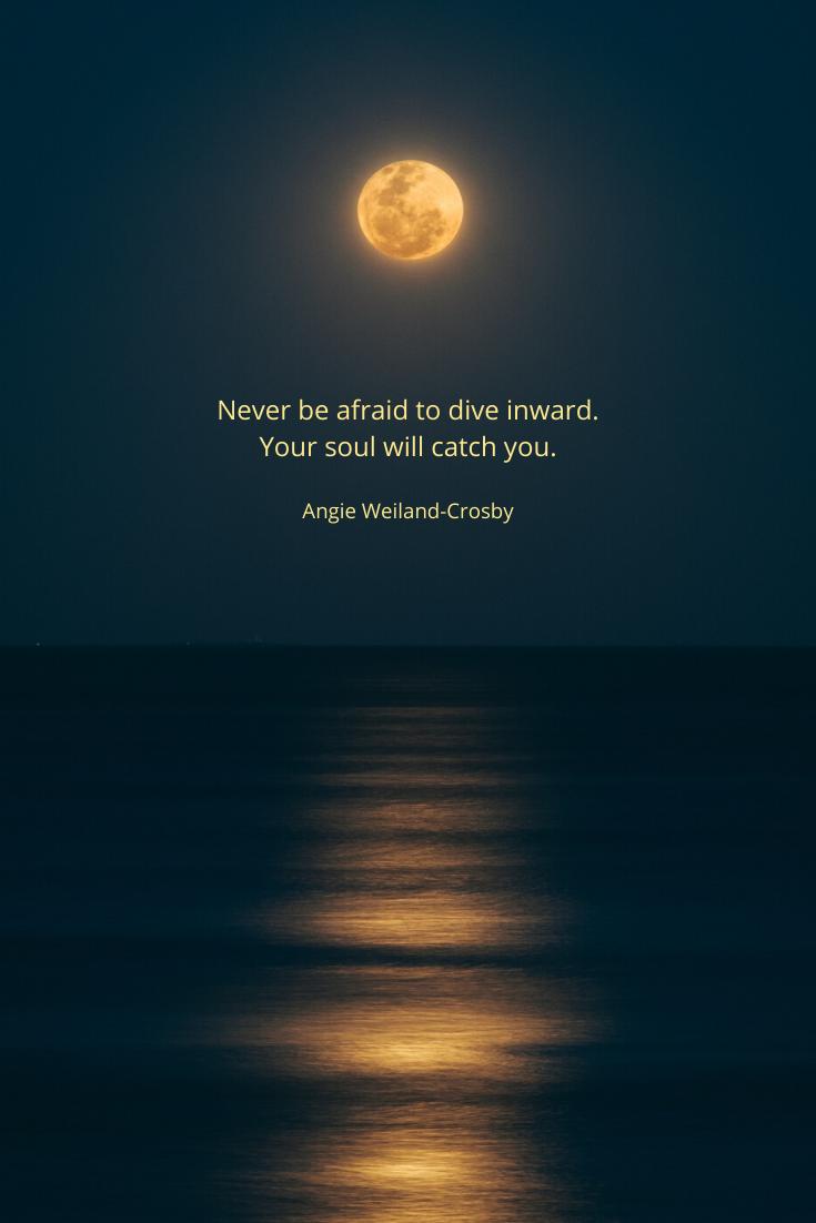 Soul Quote & Full Moon Beauty