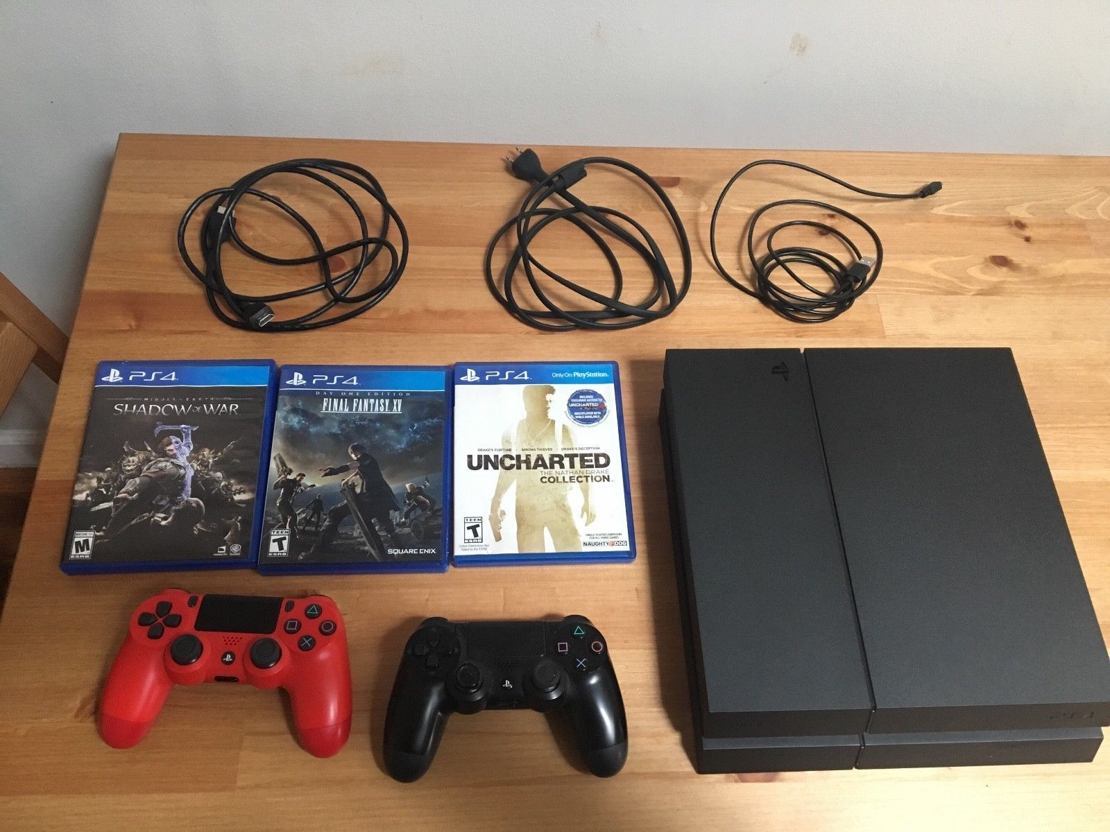 Sony Playstation 4 Launch Edition 500gb Jet Black Console Ps4 Gold