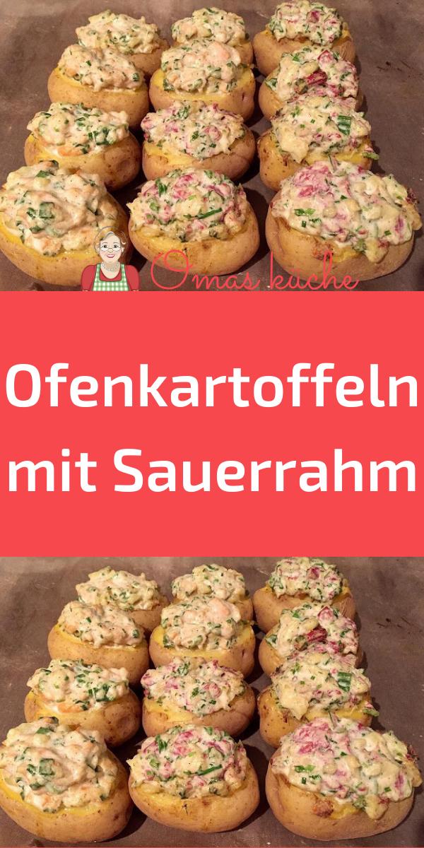 Ofenkartoffeln mit Sauerrahm