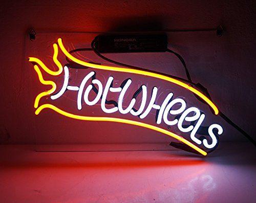 Tn 083 Hot Wheels 14x9 Home Wall Room Beer Bar Game Lam Wheel Decor Beer Pub Beer Signs