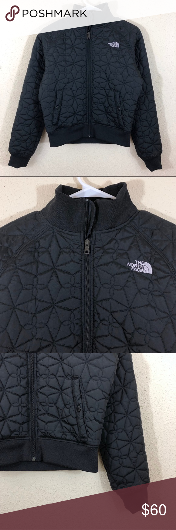 The North Face Quilted Cropped Zip Bomber Jacket Jackets Clothes Design Bomber Jacket [ 1740 x 580 Pixel ]