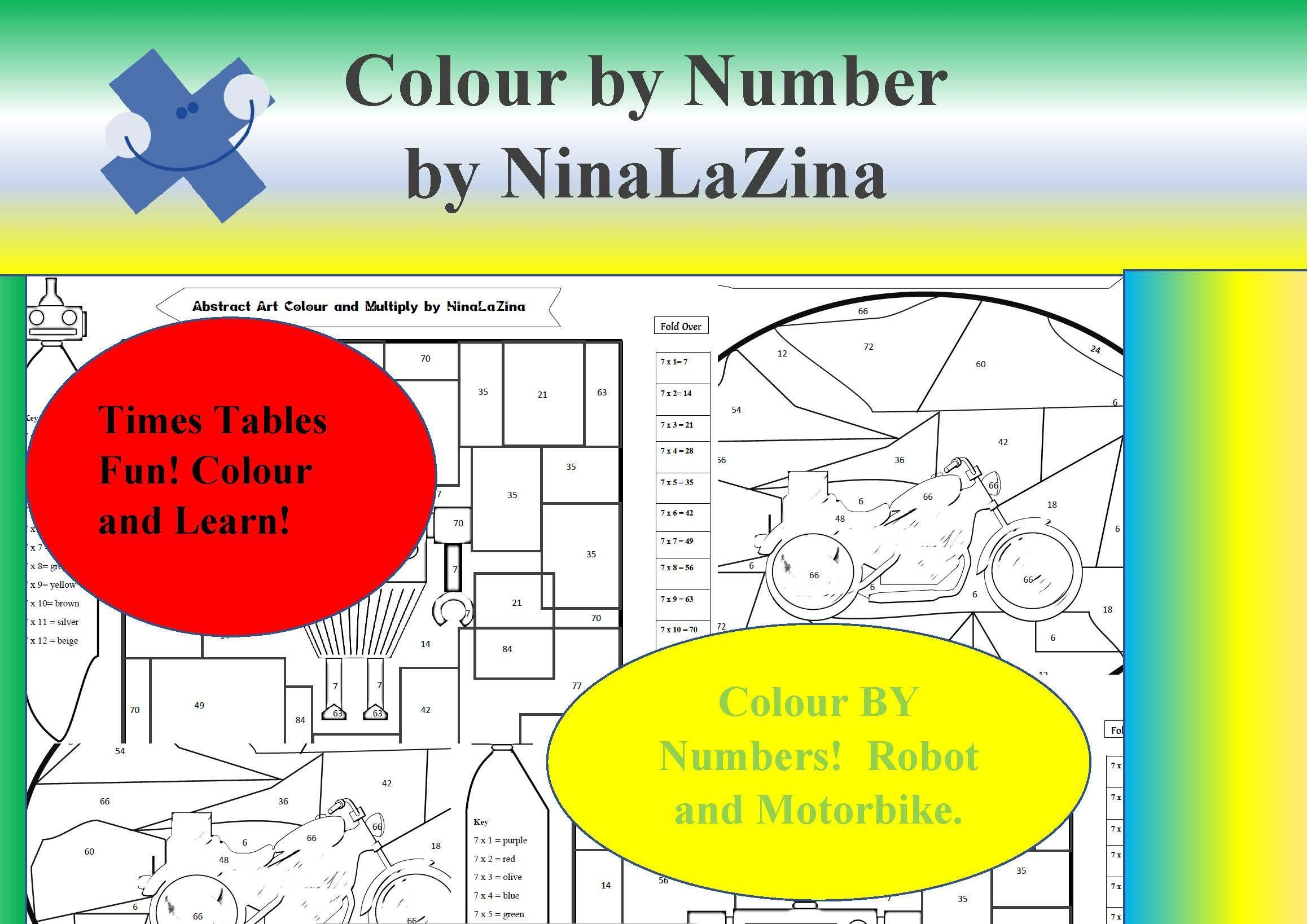 Instant Games Kids Colour By Multiplication 6 7 Times