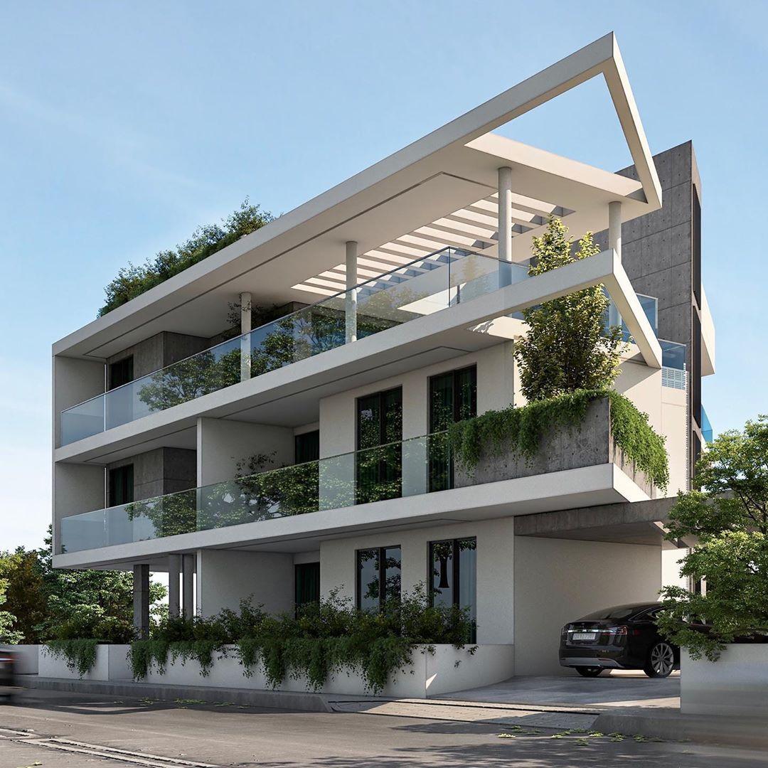 "GDM architecture on Instagram: ""Design by @gdmarchitecture 🇨🇾 #gdmarchitecture #cyprusarchitecture #cyprusarchitects #modernapartment #modernarchitecture…"""