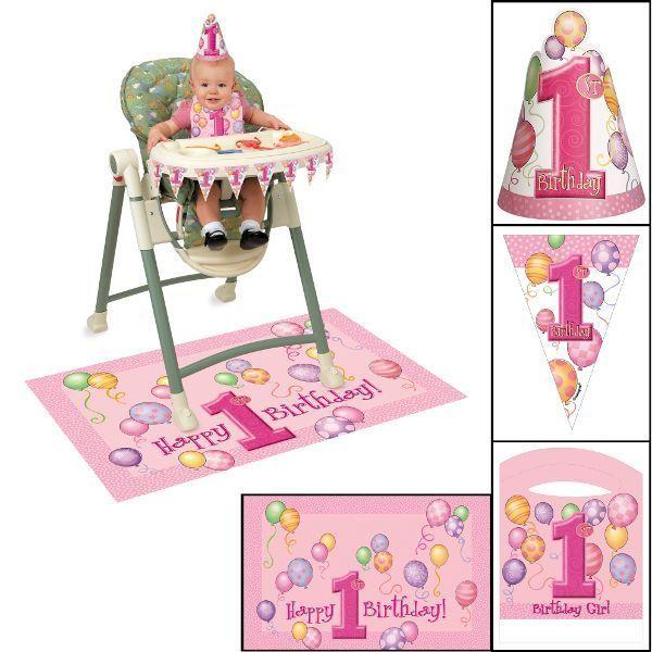 1st Birthday Balloons Pink High Chair Kit | Products | Pinterest | Pink  High Chair, High Chairs And Products