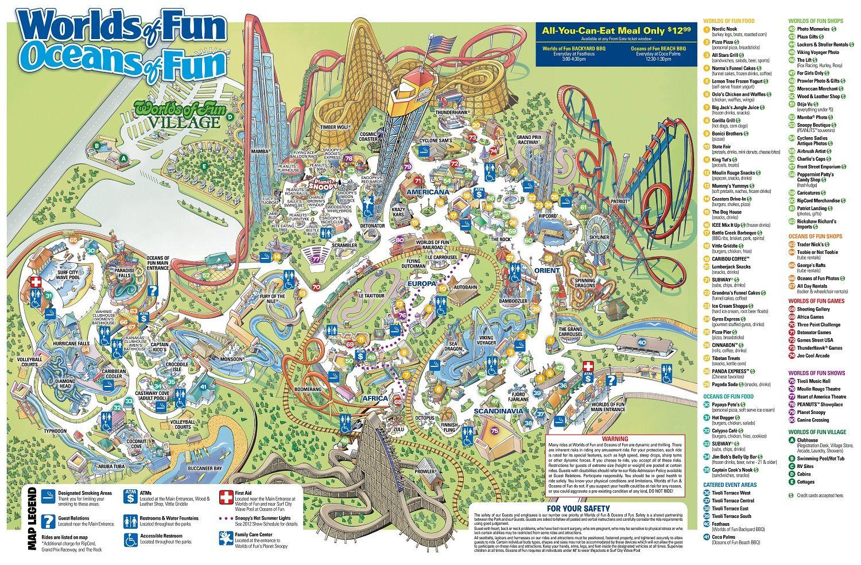 Kansas City Amusement Park Ride On Slide On Worlds Of Fun Kansas City Map Ocean Fun