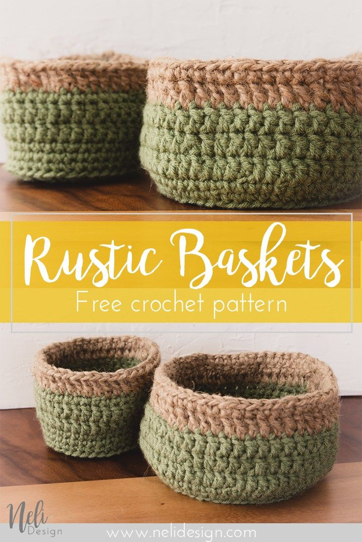 How to make affordable and rustic crochet baskets | Organization ...