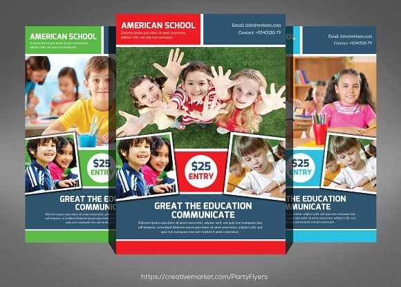 Kids School Education Flyer Template By Party Flyers On