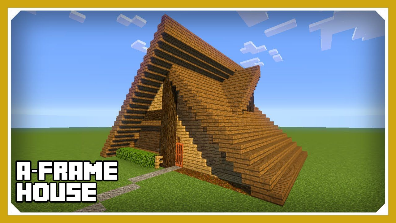 Minecraft how to build an a frame house tutorial easy