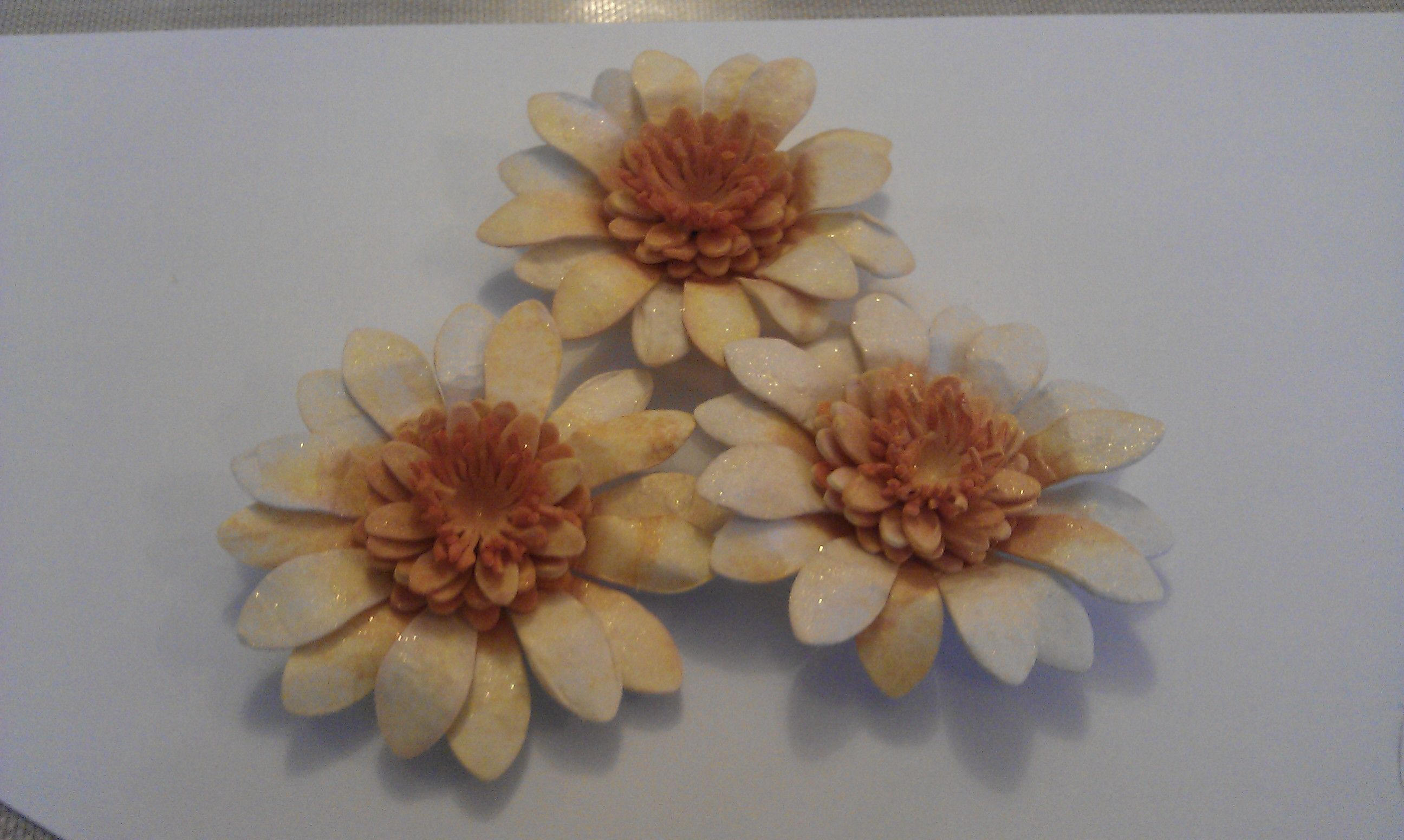 2 Large Daisy 5 Small Daisy And 2 Stamen Punch Outs TH
