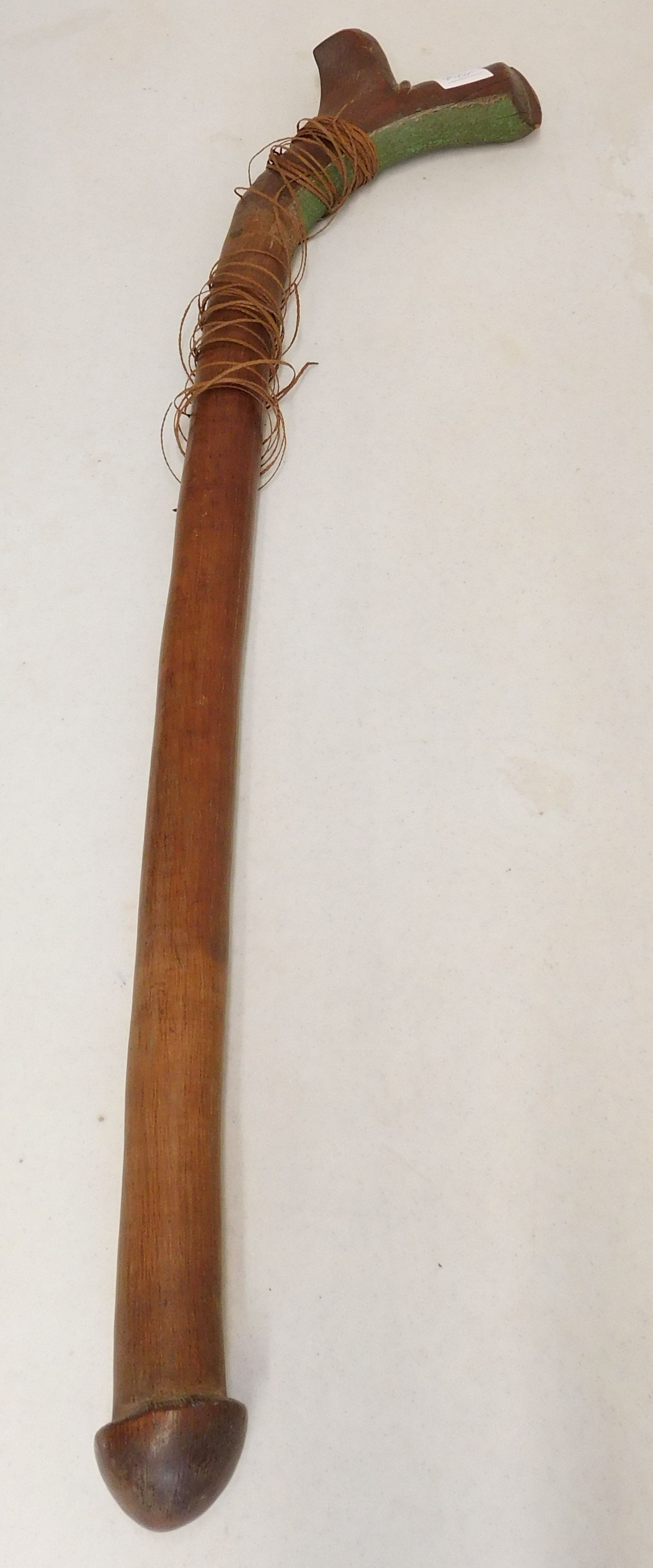 61 fijian war club circa 1850s made of hardwood and
