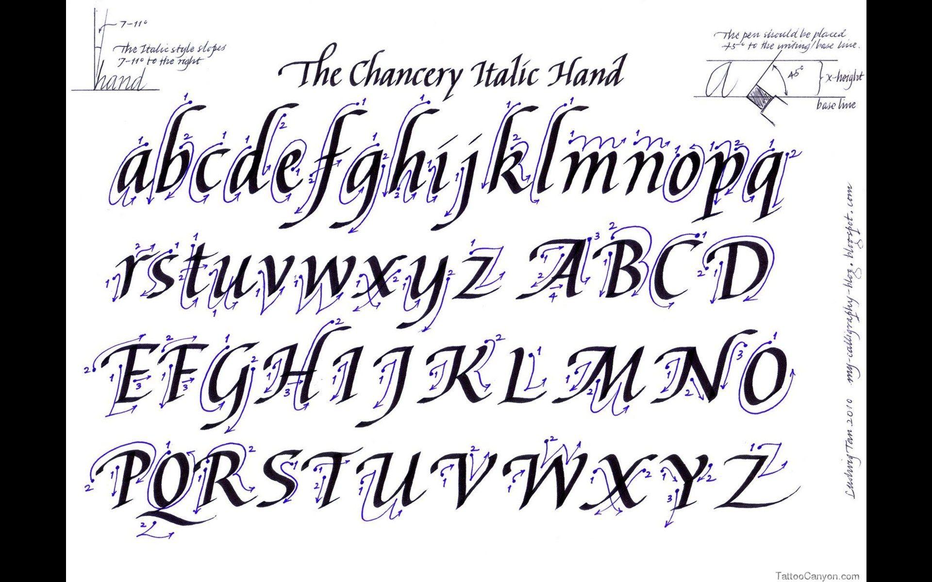 Tattoo Script Fonts