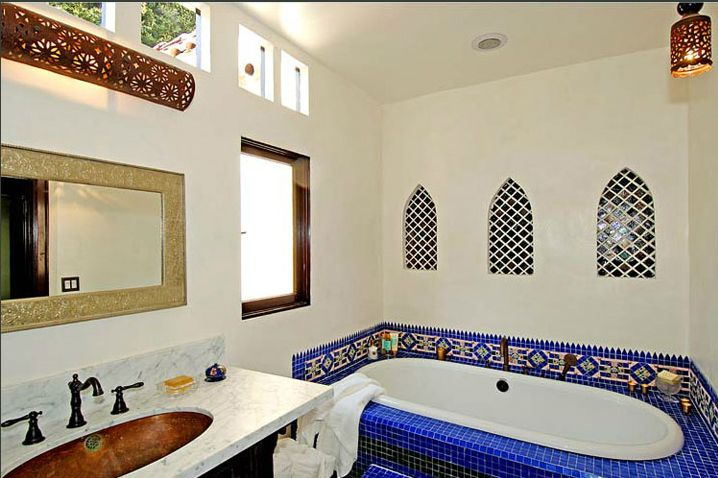 Love Moroccan Tiles Around The Bathmakes A Nice Statement Mesmerizing Bathroom Designs 2012 Design Ideas