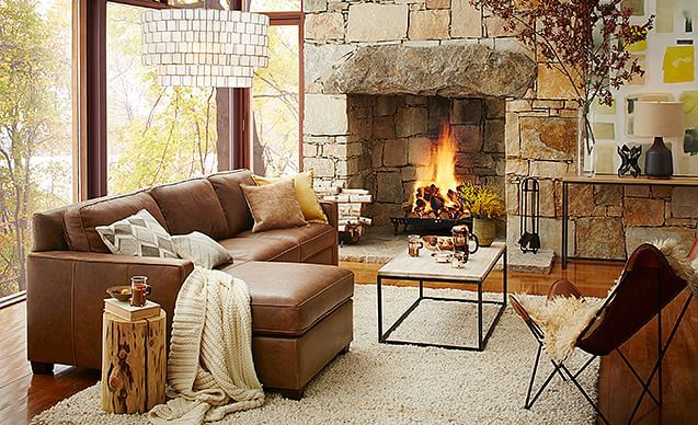A Cozy Casual Living Room Brown Cream And Wooden Accents