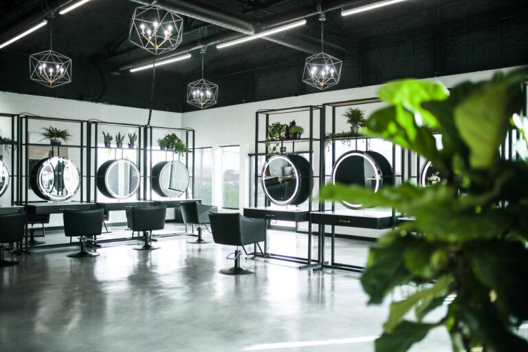 17 Creative Hair Salon Lighting Ideas Design Fixtures Lights In 2020 Hair Salon Design Salon Lighting Salon Interior Design