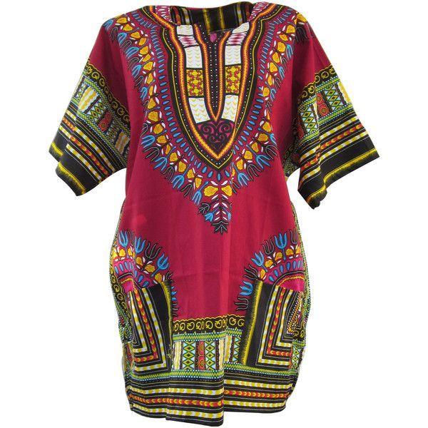 red african dashiki,red dashiki shirt, unisex top dress, plus size