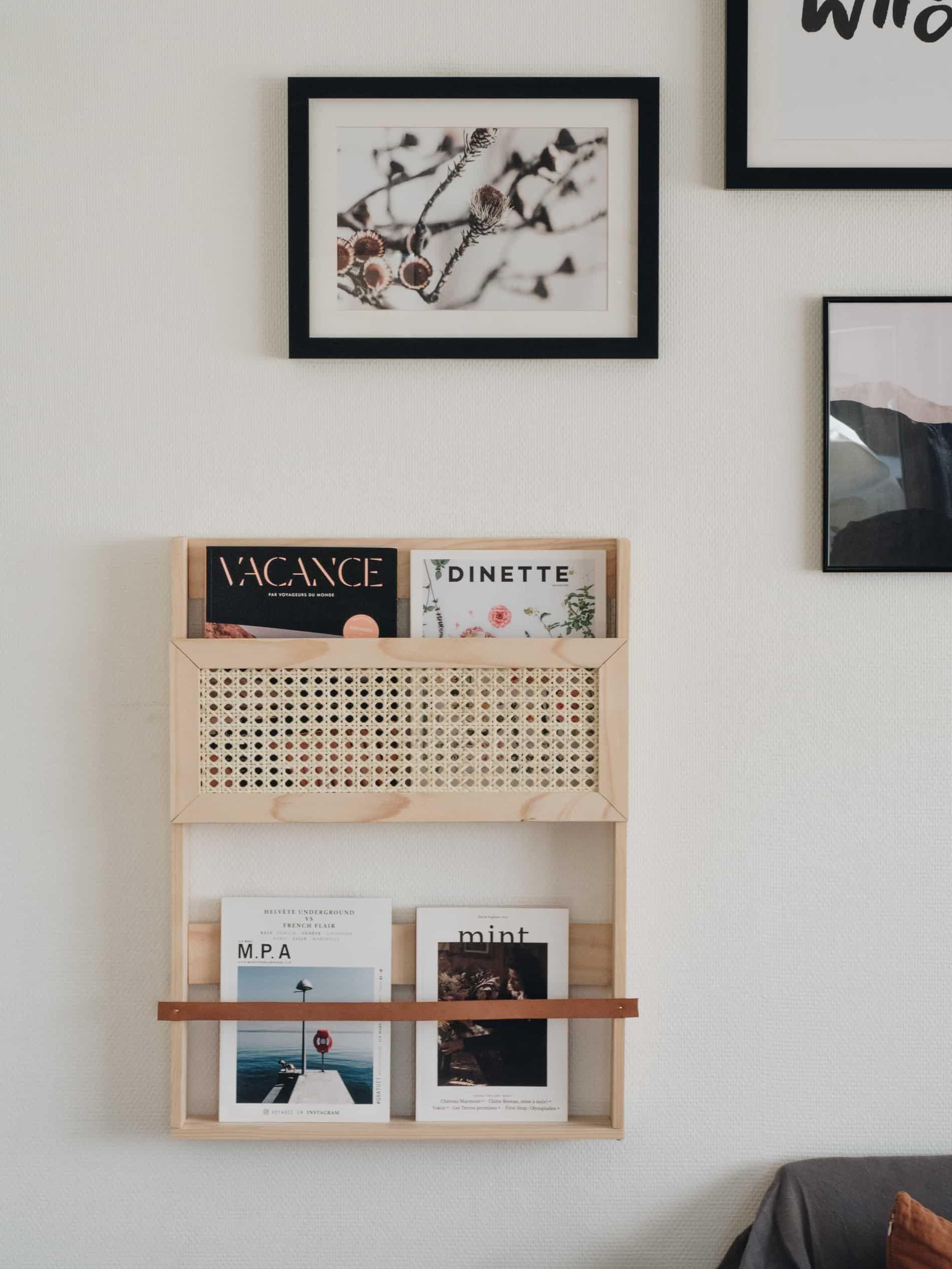 DIY : une étagère porte-magazines en cannage et cuir – Lili in wonderland