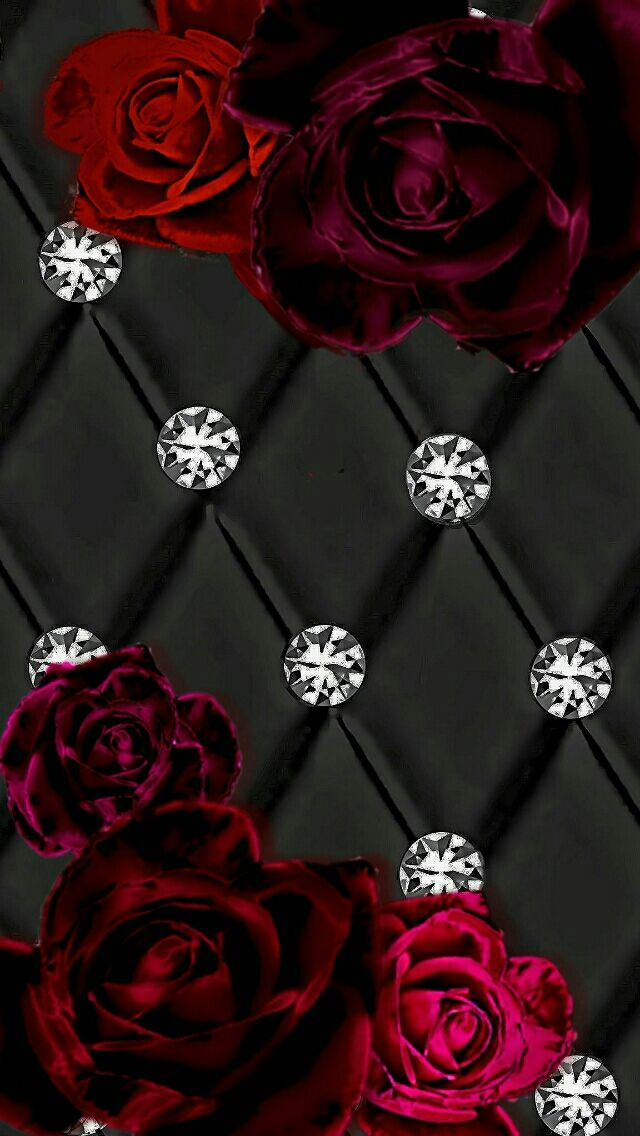 Flowers And Diamonds Possible Backdrop For Photoshop But With