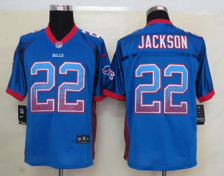 mens nfl buffalo bills 22 fred jackson drift fashion blue elite jersey