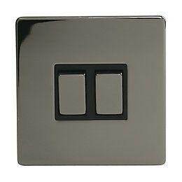 Nexus 10a 2 Way Black Matt Light Switch Pack Of 5 Departments