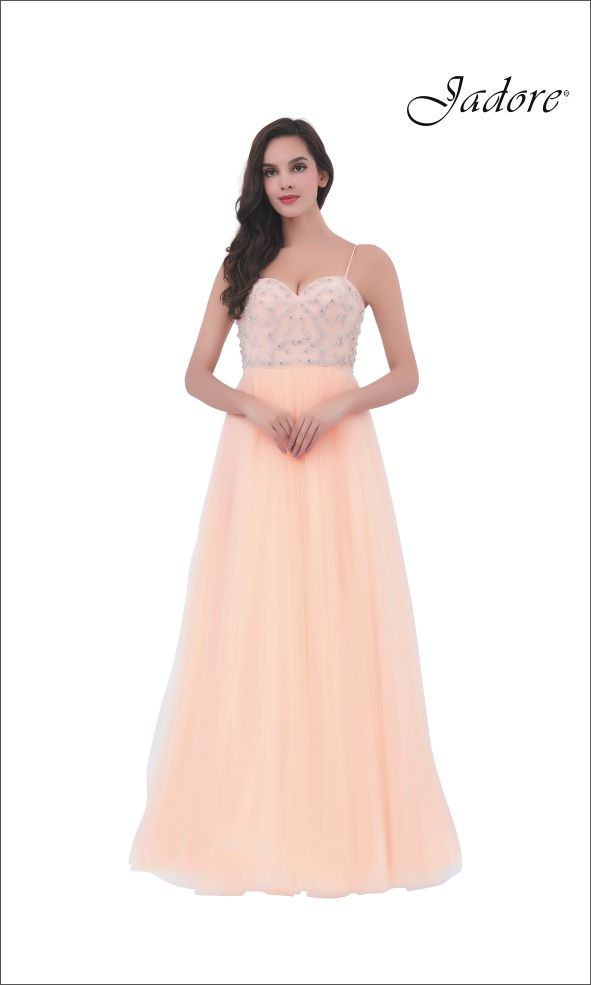 513d6f3d0219d J11367 Beaded Bodice Ball Gown with Spaghetti Straps. A stunning choice for Destination  Bride,