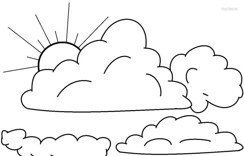 Printable Cloud Coloring Pages For Kids | Cool2bKids | Moon ...