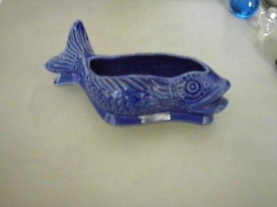 Cleve Pottery Blue Fish Posy Dish Retro Ulrome Hornsea RARE | eBay