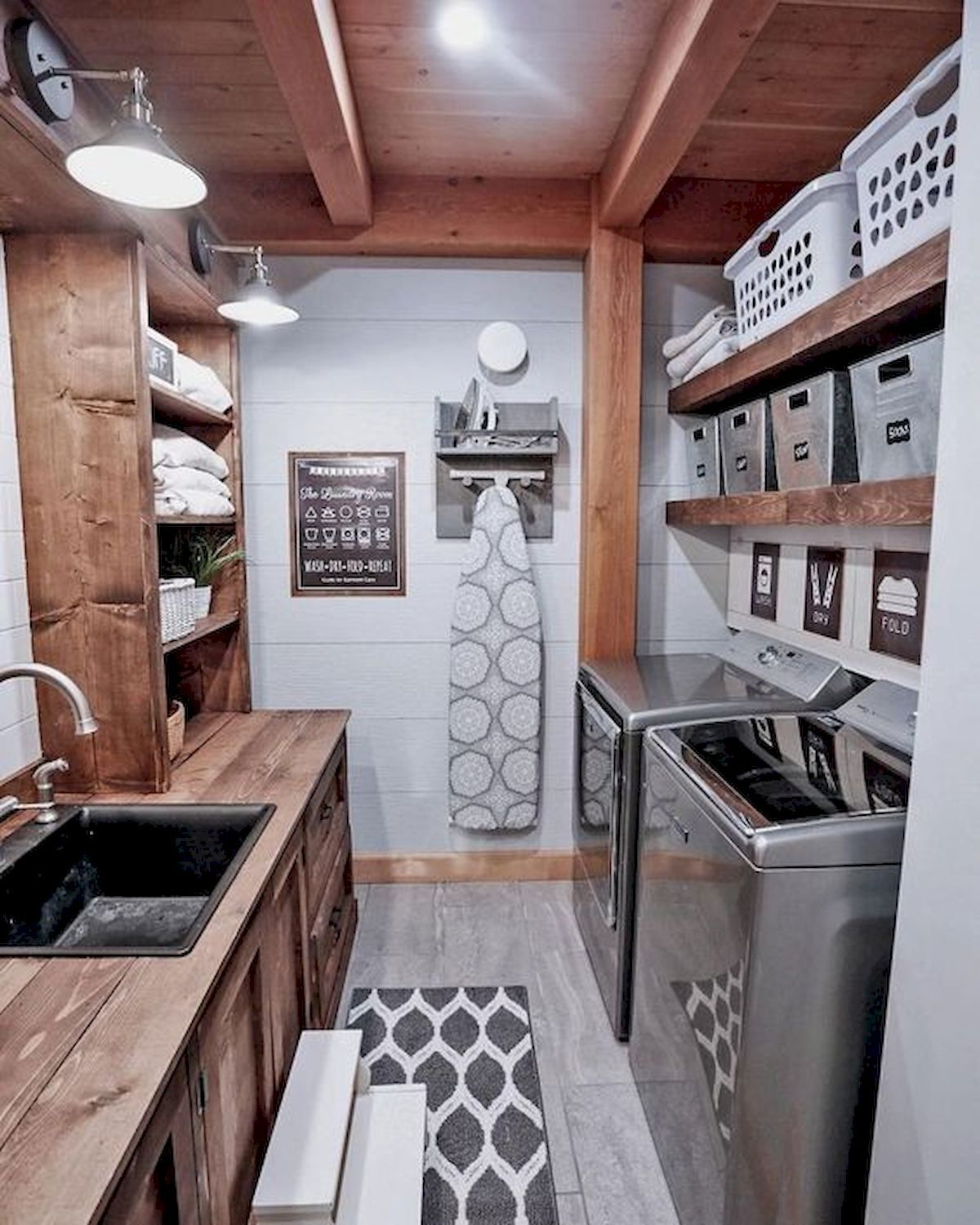55 Gorgeous Laundry Room Design Ideas and Decorations images