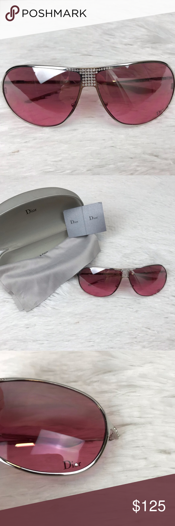 74112ddf3b9c Spotted while shopping on Poshmark  Christian Dior Hard 1 Aviator Crystal  Sunglasses!  poshmark  fashion  shopping  style  Dior  Accessories